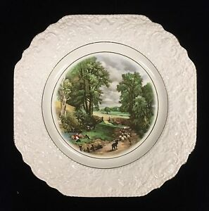 Vintage-Lord-Nelson-Ware-Constable-Collectors-Plate-The-Cornfields