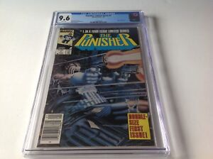 PUNISHER-LIMITED-SERIES-1-CGC-9-6-WHITE-PAGES-NEWSSTAND-NEWS-STAND-MARVEL-COMICS