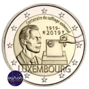 2-euros-commemorative-LUXEMBOURG-2019-Centenaire-du-Droit-de-Vote-UNC