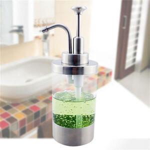 304 Stainless Steel Soap Dispenser Kitchen Liquid Bathroom Shampoo ...
