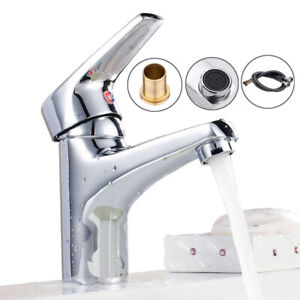 Modern Bathroom Taps Basin Sink Mono Mixer Chrome ...