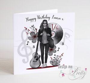 Image Is Loading TEENAGE GIRLS PERSONALISED Birthday Card Daughter Granddaughter Sister