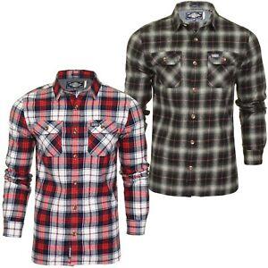Superdry-Mens-Check-Shirt-039-Classic-Lumberjack-Shirt-039-Long-Sleeved