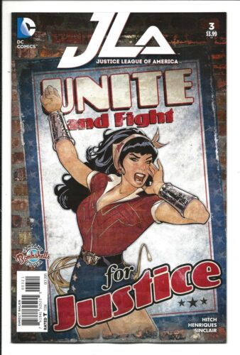 JUSTICE LEAGUE OF AMERICA # 3 BOMBSHELLS VARIANT, OCT 2015 NM NEW