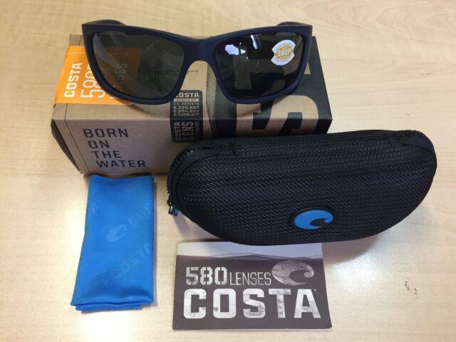 0e36dce09e238 Costa Del Mar Sunglasses Tasman Sea Tas-75 Matte Dark Blue   580p Gray Lens