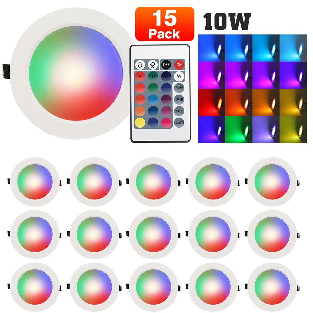 10w regulable RGB LED Panel instalación emisor plafón instalación lámpara lámpara Spot