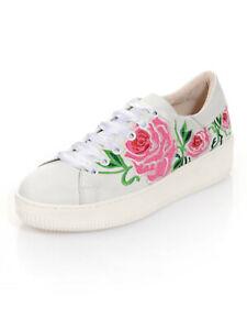 Détails sur Alba Moda Sneaker avec broderie, blanc. Taille 37. Neuf!!! Kp 139,95 € SOLDES%%% afficher le titre d'origine