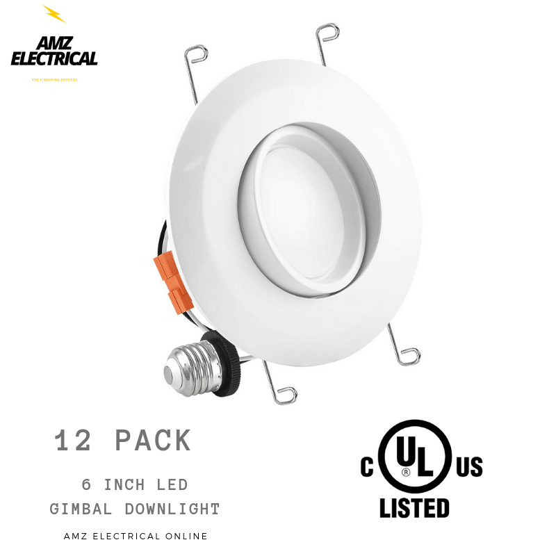 5 6  15W 3000K LED Retrofit Downlight Gimbal Trim Recessed Dimmable ETL