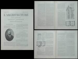 L'architecture N°2 1902 - Maison Saint Leu La Foret, Devisme