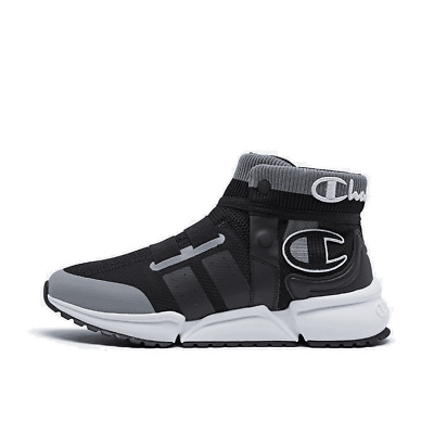 men's champion rally future casual shoes black/grey/white