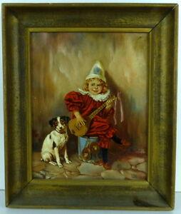 Edmond-Louyot-Olgemaelde-Clown-mit-Hund-Kopie-von-HR