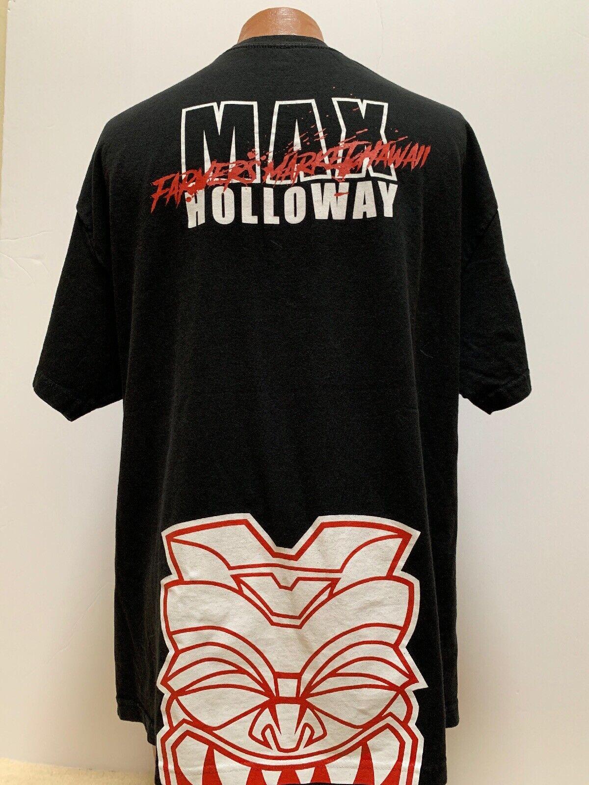 Farmers Market Hawaii Hawaiian Akua Tiki Max Holloway UFC MMA Fight 2XL XXL Tee