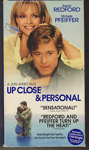VHS-Movie-Up-Close-and-Personal-Robert-Redford-Michelle-Pfeiffer