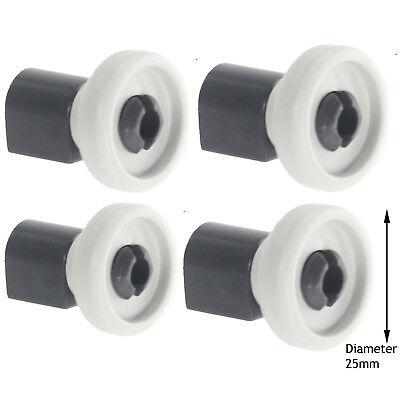 AEG Genuine Dishwasher Top Upper Basket Runner Roller Wheels /& Axle Pins x 6