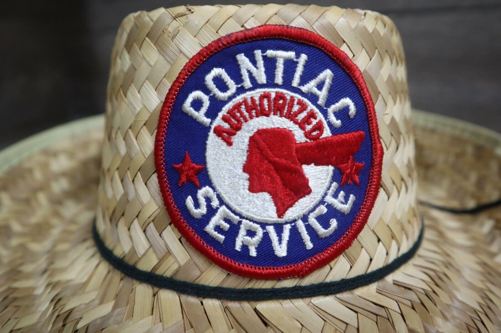 Vintage Pontiac Service Patch Straw Hat Cap Rare … - image 7