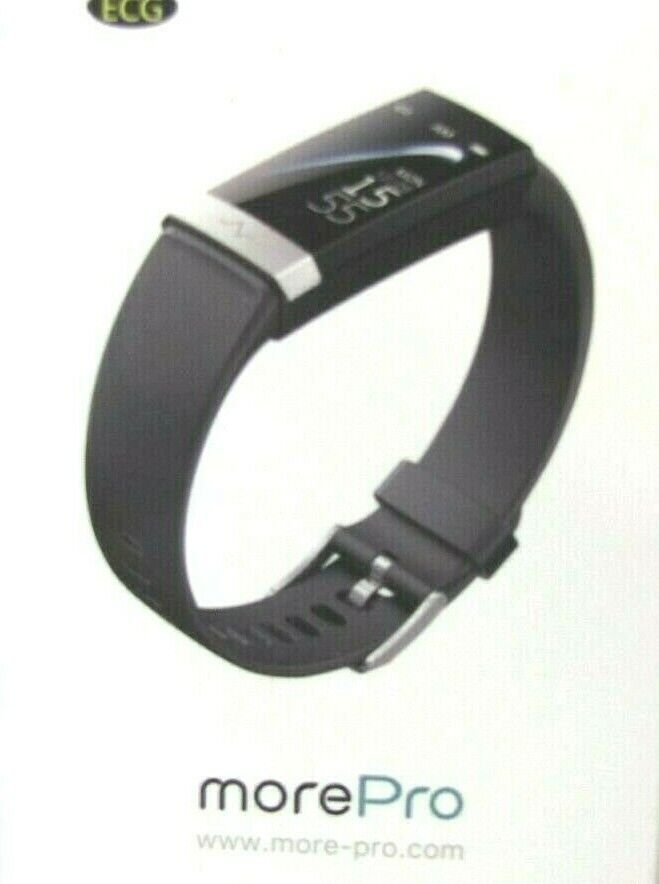 More-Pro ECG Fitness Tracker V19 ~ Black ~User Manual ~ New Condition