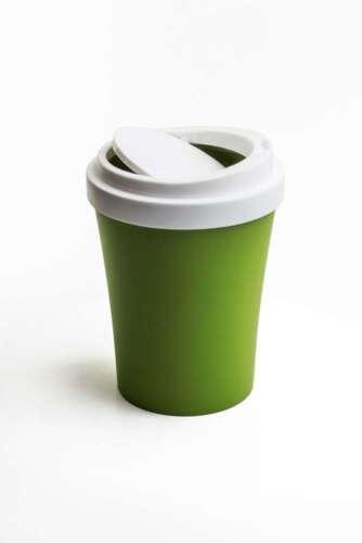 Qualy Design Mini Poubelle Coffee suis nouveau to Go Tasse poubelle vert