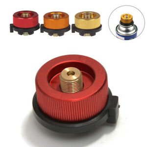 Camping Stove Butane Gas Metal Adapter Convert Fuel Canister for Long Gas .@s
