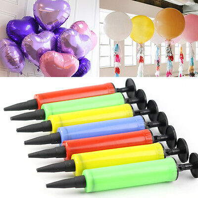 Balloon Air Pump Hand Held Action Plastic Inflator For Party Balloon Tool Set