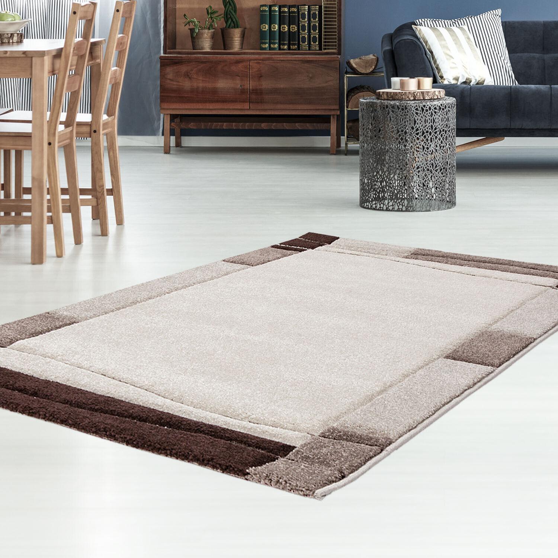 Piatto Flor-Tappeto con contorni taglio sabbia Modern bordatura soggiorno