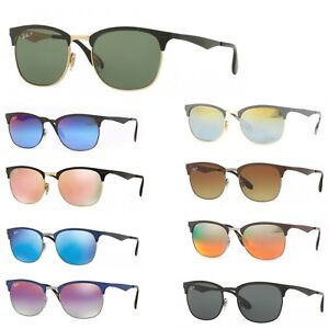 6ce8304c4d Image is loading Sunglasses-Ray-Ban-Clubmaster-metal-rb-3538-new-