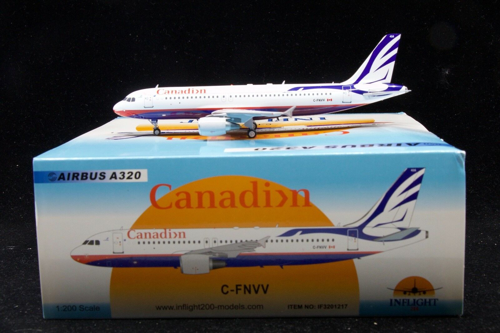 Inflight200 Canadian Airlines  Proud Wings  livery C-FNVV A320-200