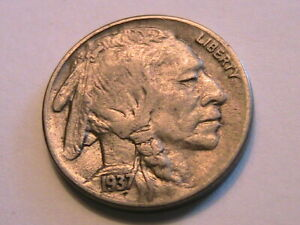 1937-S-Buffalo-Nickel-5C-XF-Extra-Fine-Lustrous-USA-Indian-Five-Cent-Coin