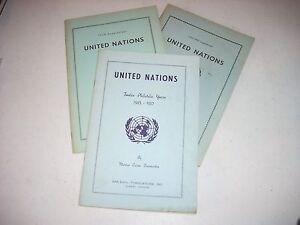 United Nations Twelve Philatelic Years Zinsmeister with 2 supplemens 1945-1960