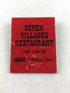 Vintage-Seven-Villages-Restaurant-Landmark-Restaurant-Iowa-Matchbook
