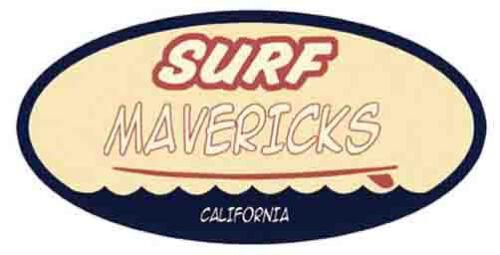 Surf  Mavericks   Vintage Style Surfing Travel Decal