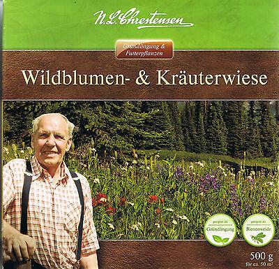 (€39,98/kg) 500g Wildblumenwiese & Kräuterwiese  Bieneweide Schmetterlingswiese
