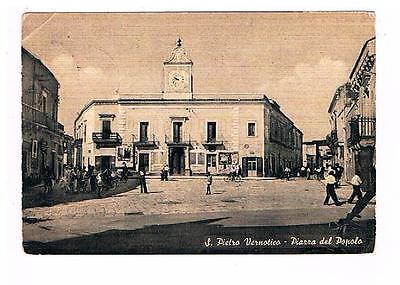 26290 Cartolina Brindisi San Pietro Vernotico Piazza del Popolo VG 1958   eBay