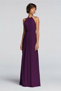 Image Is Loading David 039 S Bridal Plum Colored Dress For