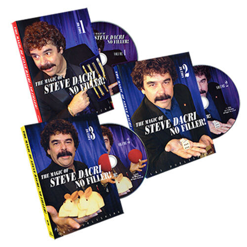 Steve Dacri - The magic of - Set of 3 volumes - Street magic - Games of magic