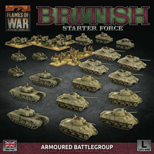 Flames of War-británica  blindado una agrupación táctica finales de la guerra BRAB 12