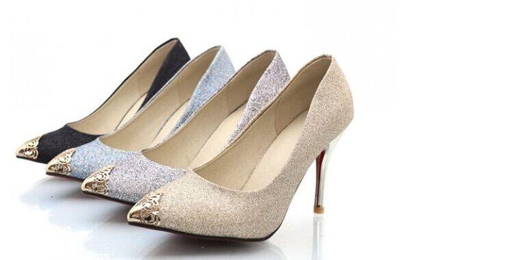 Schuhe Dekolleté Frau Stöckelabsatz 9 cm verfügbar aus 4 Farben 8405