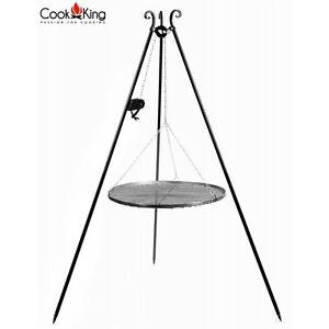 COOK KING Edelstahlrost auf dem 200 cm Dreibein mit Kurbel 70 cm ***NEU***