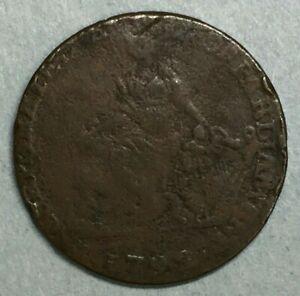 1792-Camac-Kyan-and-Camac-Halfpenny-Token-Dublin-Half-1-2-Penny-Irish-Harp-ZS185