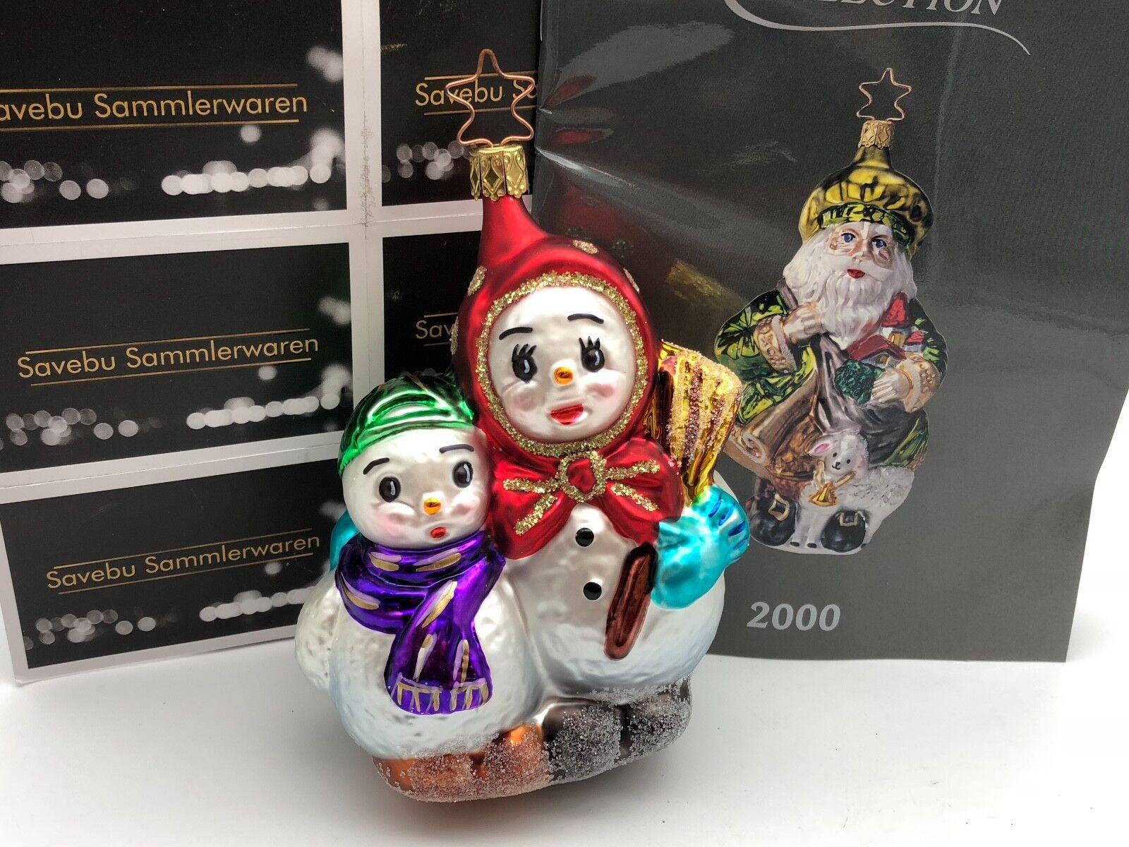 Inge Glas Glas Glas  Birgits Christmas Collection. Schneemänner haben Familie. 13,5 cm 8f82f1