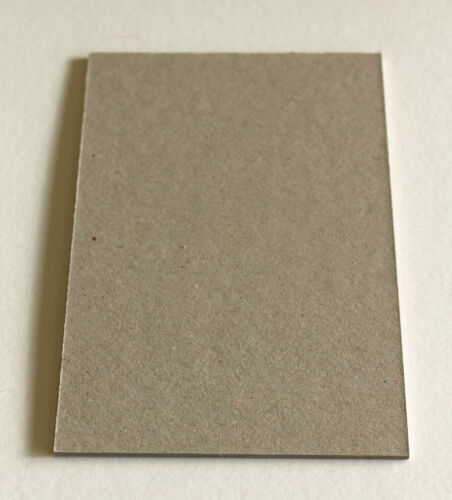 """2500 Microns 12x12/"""" THICK Grey Backing// Mounting// Craft Board"""