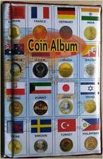 COIN ALBUM - MEDIUM QUALITY - 10 PAGES ( STORE 120 COINS)