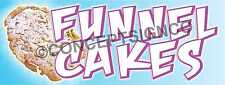 15x4 Funnel Cakes Banner Outdoor Sign Carnival Fair Concession Stand Cake