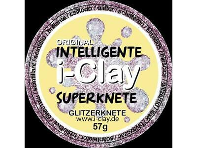 Glasknete mit Glitzer i-Clay Rosa Knete Knetmasse intelligente Superknete