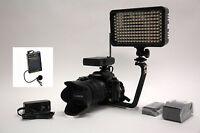 Pro 4k 12 Wlm Ac/dc Video Light F570 Lavalier Mic For Canon 7d Mark Ii Rebel T3i