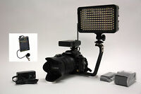Pro 4k 12 Wlm Video Light F570 Wireless Lavalier Mic Canon Gl2 Xl1 Xl1s Xl2 A1