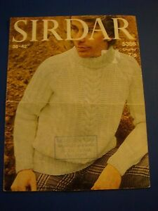 Sirdar-Men-039-s-Cable-Conscious-Sweater-Knitting-Pattern-5386