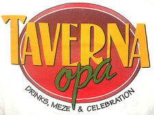 TAVERNA OPA Tee - Men's Size MEDIUM T-Shirt - GREEK MEZE (tapas) & DRINKS - NEW