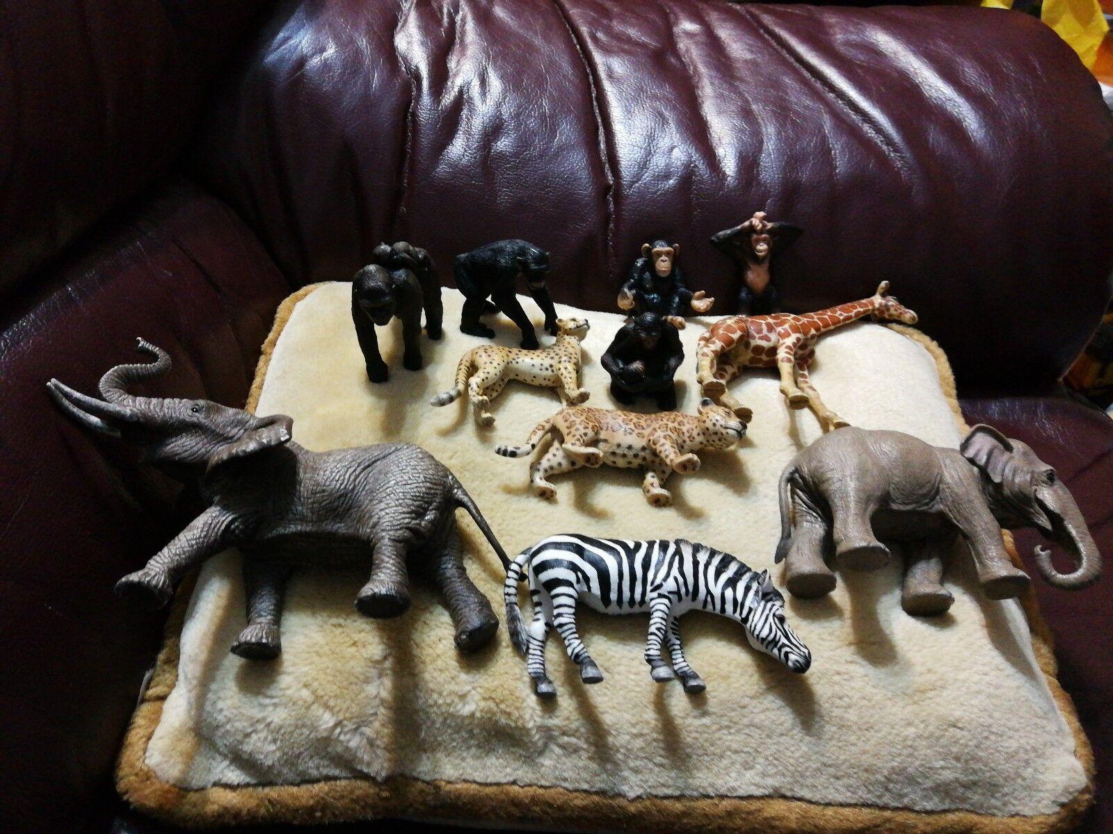 Bndel sammlung von echten schleich wilden zoo safari tiere
