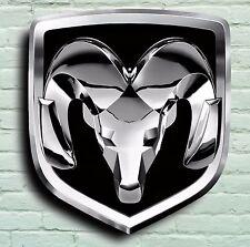 Logotipo de Dodge Ram 2FT Garaje Señal Placa de pared Cargador de coche americano Challenger SRT