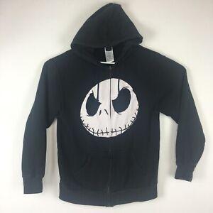 Nightmare Before Christmas Hoodie.Details About Nightmare Before Christmas Hoodie Jack Skellington Face Disney Sweatshirt Sz S